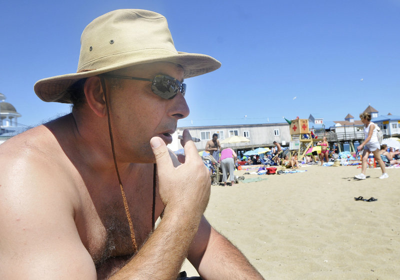 Smoking on Maine's beaches is a public health issue.