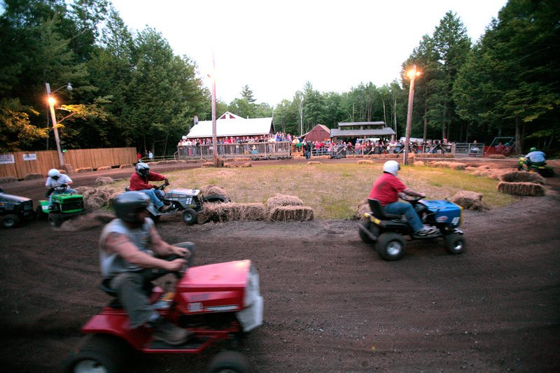 Lawn mower races will be part of the Redneck Olympics this weekend in Hebron. Other games: a wife-carry, a tire beer trot and toilet-seat horseshoes.