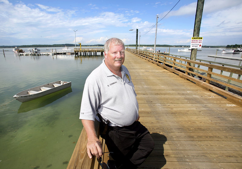 Dave Corbeau, Scarborough's harbormaster and marine resources officer, stands on the new pier at Pine Point. Completed this spring and opening last month, the $800,000 improvement was paid for with a combination of grants and town funds.