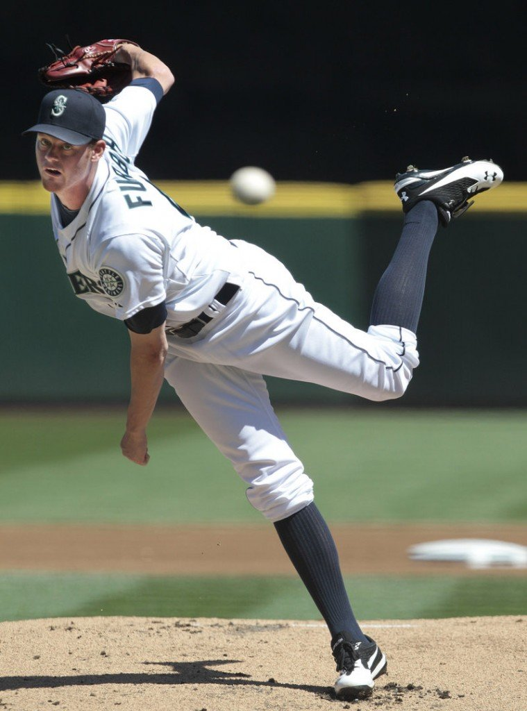 Charlie Furbush delivers a pitch Wednesday in his first start for Seattle since being traded from Detroit. Furbush allowed one run in five innings as the Mariners beat Oakland, 7-4.