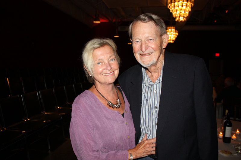 Former Maine State Ballet instructor Beverly Lowe and her husband, Ralph Lowe, attend the party Thursday.