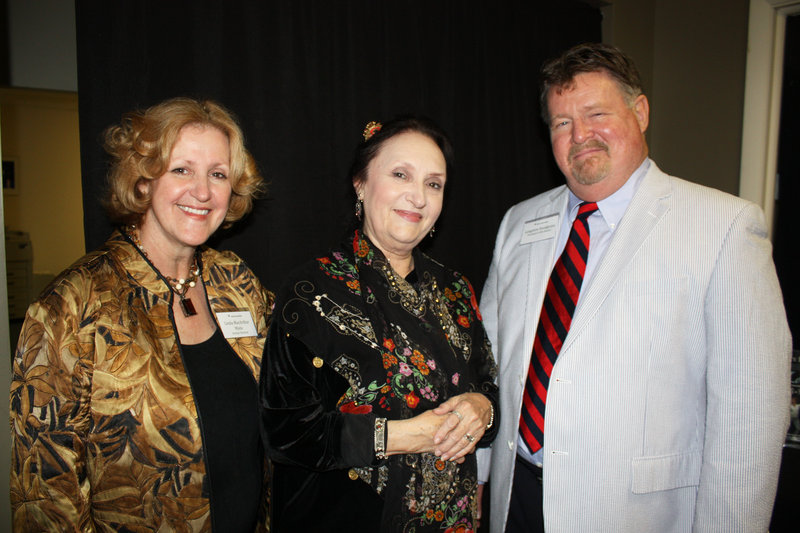 Maine State Ballet artistic director and co-founder Linda MacArthur Miele, associate director Gail Csoboth, who is responsible for the company's costumes and sets, and board President Langston Snodgrass.