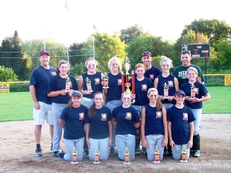 The Saco Slammers won the Beast of the Northeast 12U softball tournament in Westbrook, defeating Portland United 5-0 in the championship game on Friday. Team members, from left to right: Front – Samantha Dow, Mary Farnkoff, Shelby Ross, Madi Dube and Isabella Robinson; Back – Manager Steve Howe, Sarah Guimond, Maizie Lee, Ashley Howe, Kaylee Burns, Coach Scott Dube, Caitlin Kane, Coach Kevin Robinson and Lindsay Luopa.