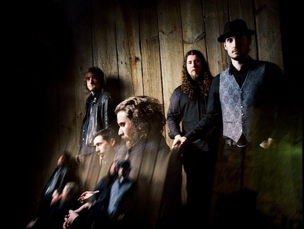 Saturday's My Morning Jacket gig at KahBang marks at least the third Maine show by MMJ in recent years. The band masters its music at Gateway Mastering in Portland. MMJ is Bo Koster, Jim James, Tom Blankenship, Patrick Hallahan and Carl Broemel.