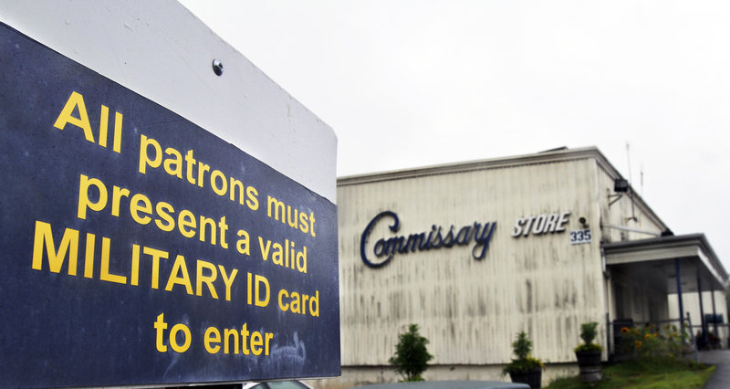 The Commissary Store in Topsham is scheduled to close Oct. 8, to the dismay of military families who will have to go elsewhere to buy food at much higher prices.