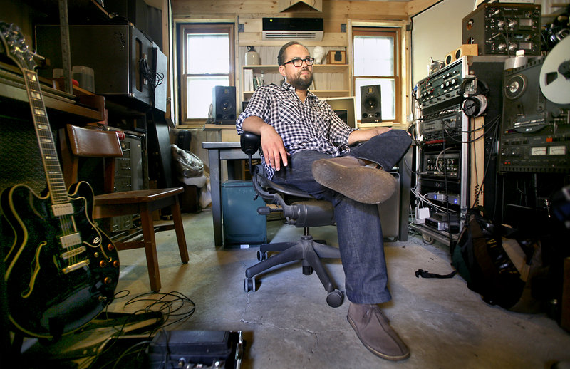 Ron Harrity runs Peapod Recordings out of his Forest City Studio, located in his garage in South Portland.