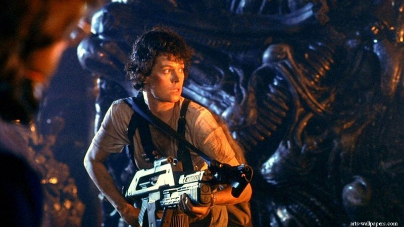 """The Saco Drive-In is dusting off two space classics later this month: """"Aliens,"""" above, starring Sigourney Weaver, and """"E.T.,"""" below, with Henry Thomas as Elliott."""