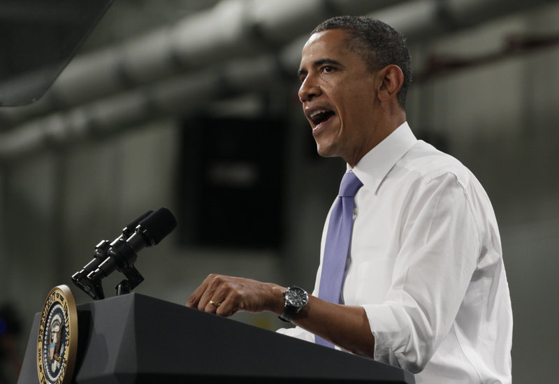"""President Obama told workers at Johnson Controls in Holland, Mich., Thursday, """"There is nothing wrong with our country. There is something wrong with our politics."""""""