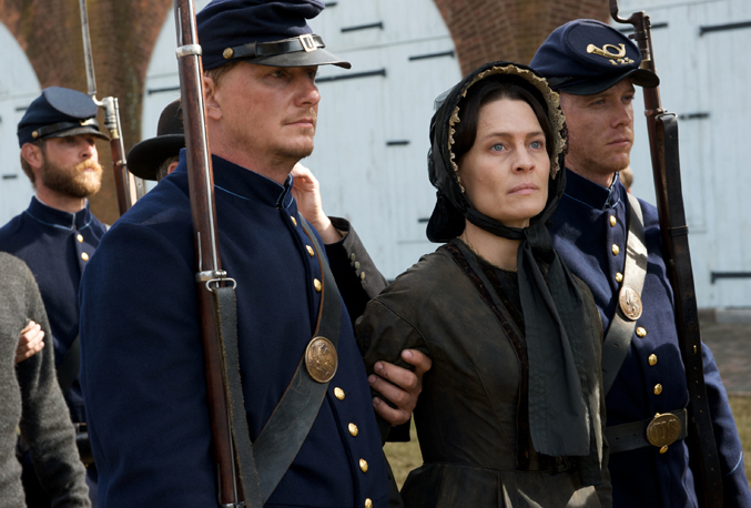 Robin Wright stars as boardinghouse owner Mary Surratt in the Robert Redford-directed historical drama
