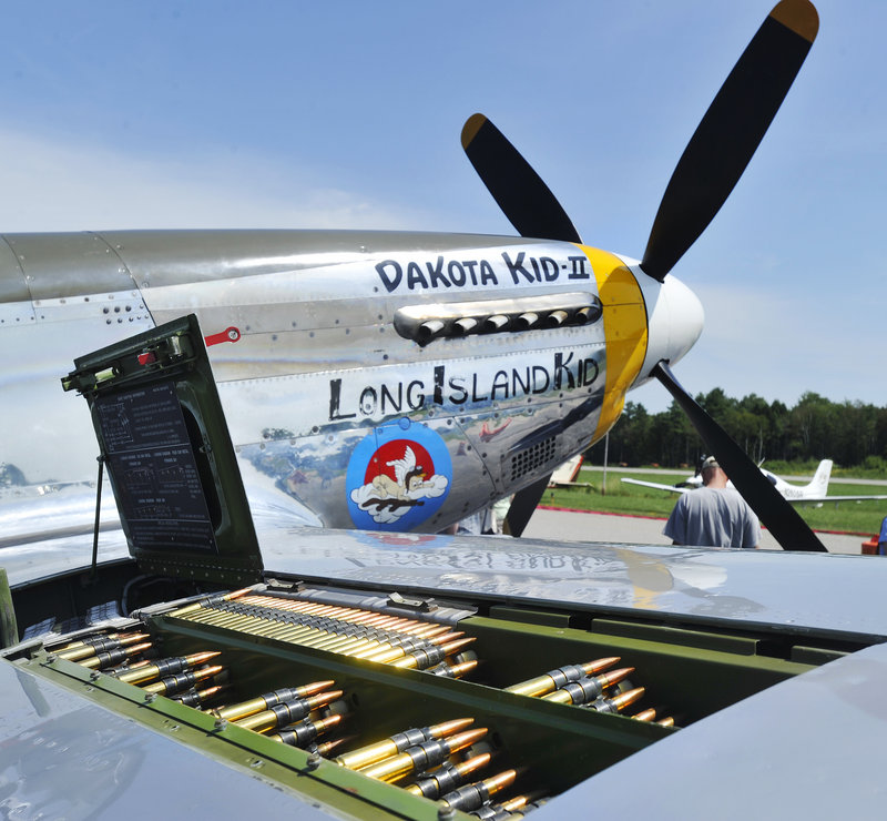 Some of the aircraft displayed firepower, too, including this P-51 Mustang.