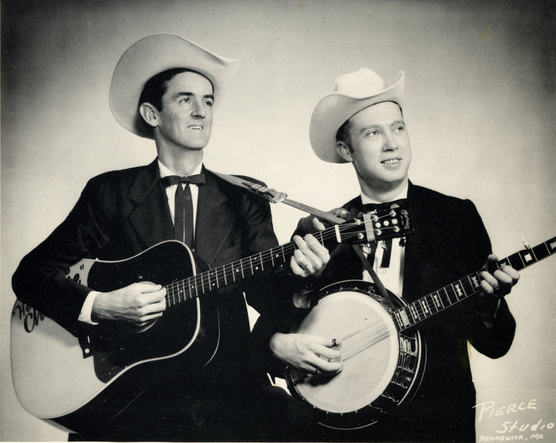 Jimmy Cox, right, poses with Charlie Gilliam in 1960. The two performed on Ken MacKenzie's local television show for more than a decade.