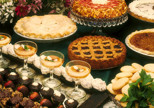Migis Lodge creates a wide range of desserts.
