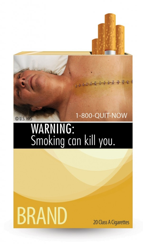 This is one of the nine new warnings cigarette makers must use by the fall of 2012.