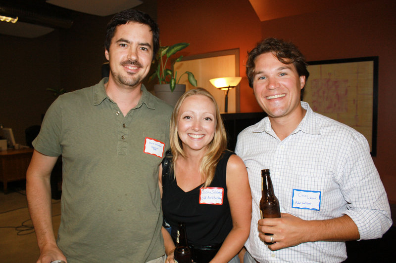 David Milliken of Horizon Residential, which provides home energy audits, Sasha Salzberg of Bild Architecture, and Chris Lavoie, a certified EcoBroker with Keller Williams Realty.
