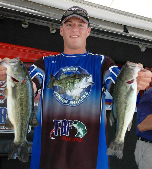 Catching bass like these has helped 17-year-old Nick Deering of Portland become a world champion fisherman. He won the title on Aug. 12 in Arkansas.