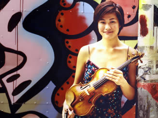 Violinist Jennifer Koh performed at the opening of the Salt Bay Chamberfest last week.