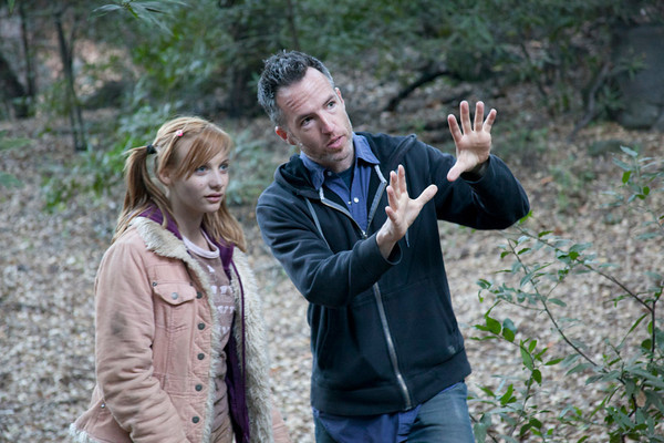 """Kyle Rankin directs actress Pauline Cohn in """"Nuclear Family,"""" a post-apocalyptic thriller that may come out as a feature on DVD, a TV series or an Internet series."""
