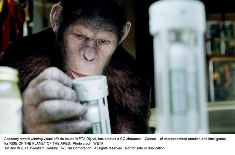 Caesar, an intelligent ape, makes a discovery in the new film,