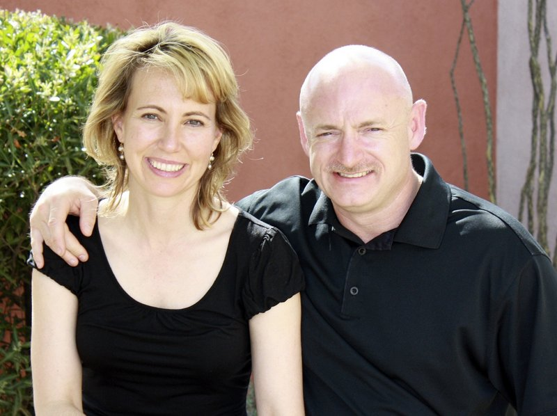 Rep. Gabrielle Giffords is shown with her husband, retired astronaut Mark Kelly, in an undated file photo. Kelly was alone with Giffords in July when he told her about the six people killed in the Jan. 8 shooting rampage in Tucson, Ariz.