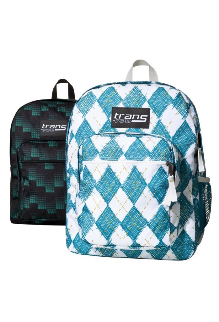 Trans by Jansport backpacks in argyle prints are available at Target for $29.99.