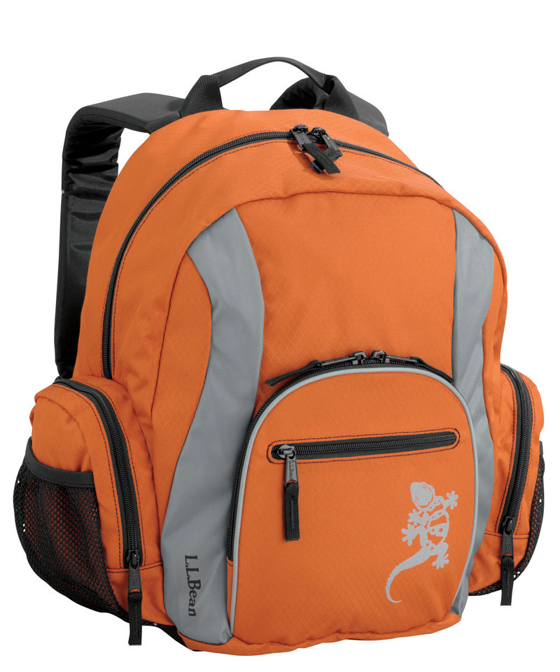 The Critter Pack from L.L. Bean is designed for ages 7 to 10. Among its features is a front organizer panel that holds markers, pens and more. It sells for $39.95.