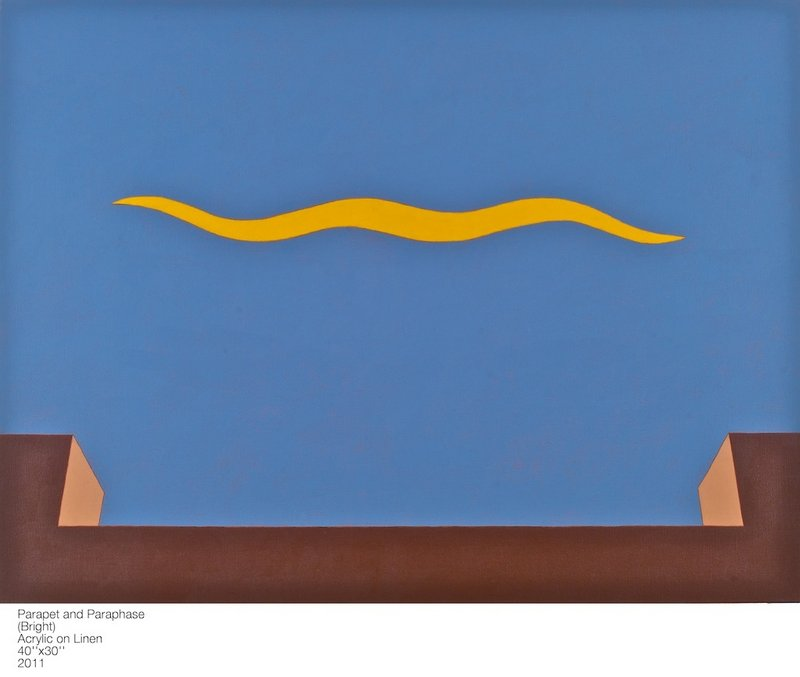 Parapet and Paraphrase, both acrylic on linen by Scott Davis.