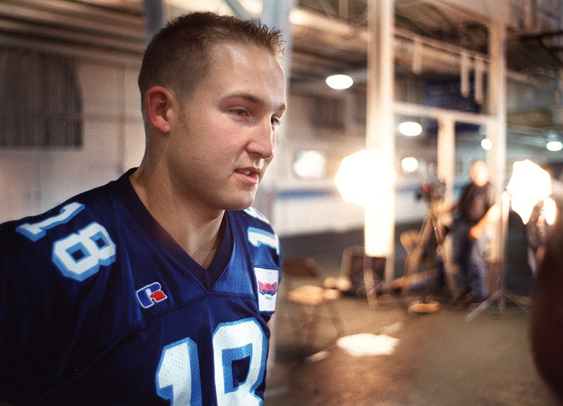 """Jake Eaton, who last played in 2002, was the last Maine quarterback who could call the Black Bears """"my team."""""""