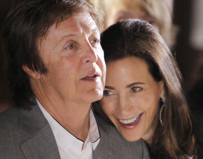 A 2010 photo of Paul McCartney and his fiancee Nancy Shevell.