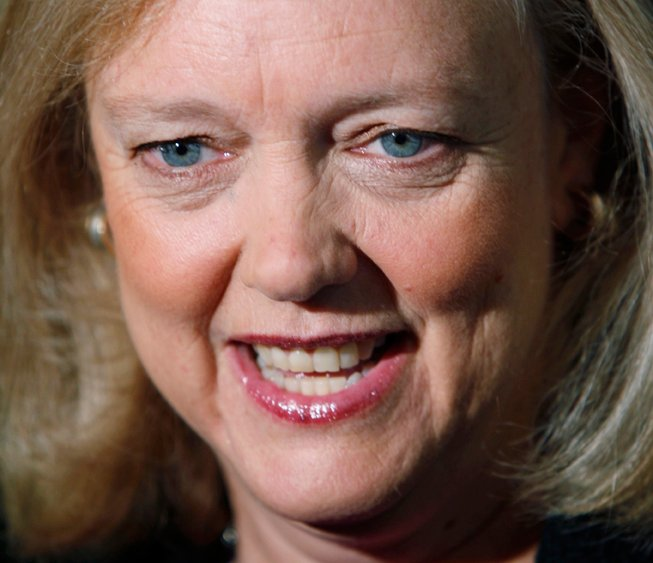An Oct. 23, 2010, photo of Meg Whitman, then a Republican candidate for California governor. Whitman will replace Leo Apotheker as CEO of Hewlett Packard.