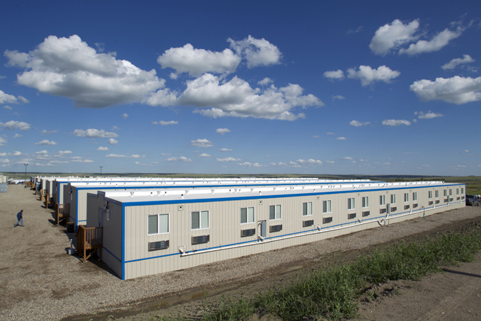 Temporary housing units outside of Williston, N.D.