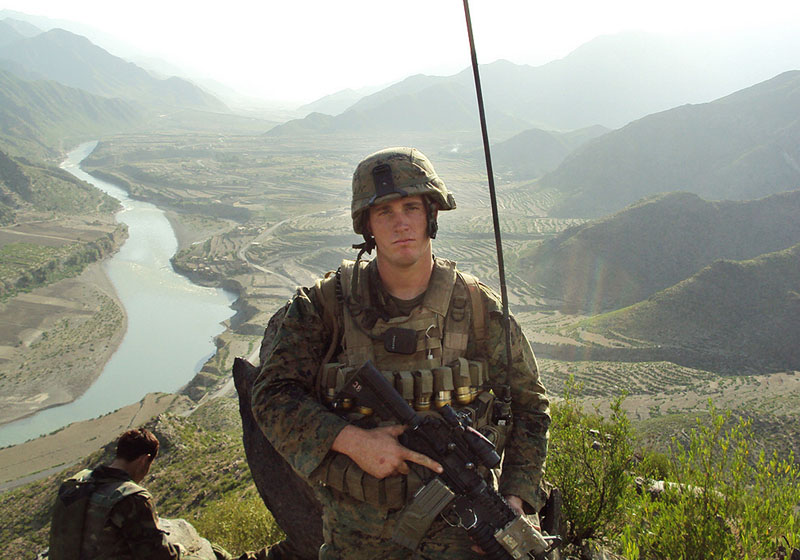 In this undated photo released by the U.S. Marines, Sgt. Dakota Meyer poses for a photo while deployed in support of Operation Enduring Freedom in Ganjgal Village, Kunar province, Afghanistan. The White House announced the 23-year-old Marine scout sniper from Columbia, Ky., who has since left the Marine Corps, will become the first living Marine to be awarded the Medal of Honor in decades for his actions in Afghanistan. (AP Photo/U.S. Marines) Medal of Honor. Marine Marine Corps Dakota Meyer valor