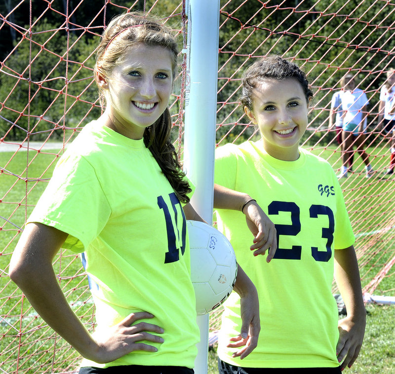 Audrey Parolin, left, and Sammi Toorish combined for 23 goals and 15 assists last season as Greely reached the Western Class A semifinals.
