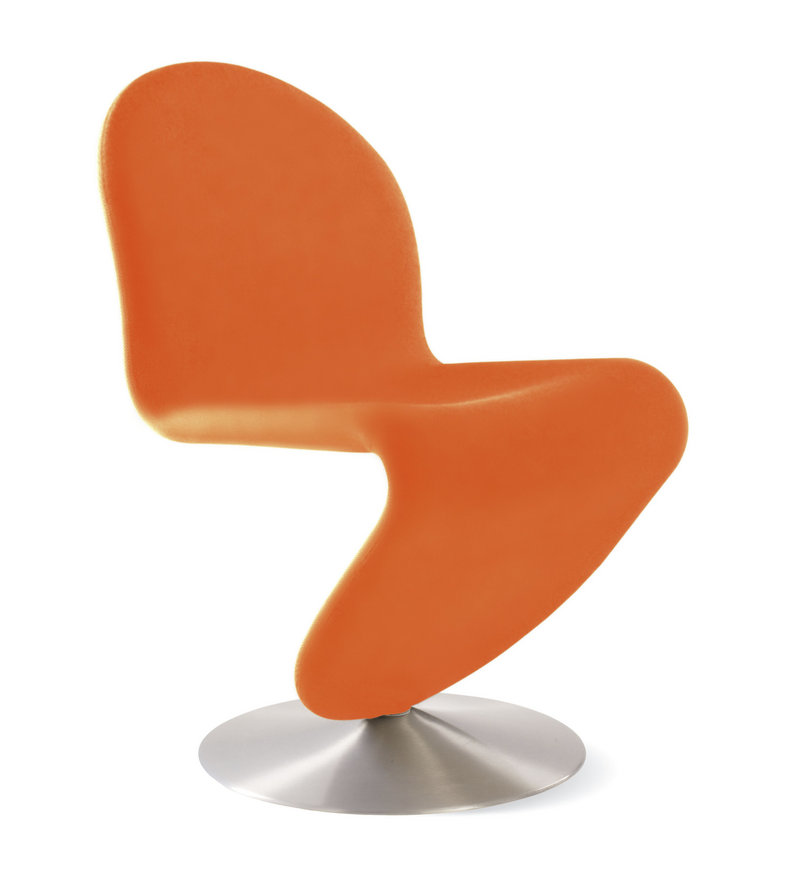 Verner Panton's System 1-2-3 dining chair has been reproduced by Design Within Reach.