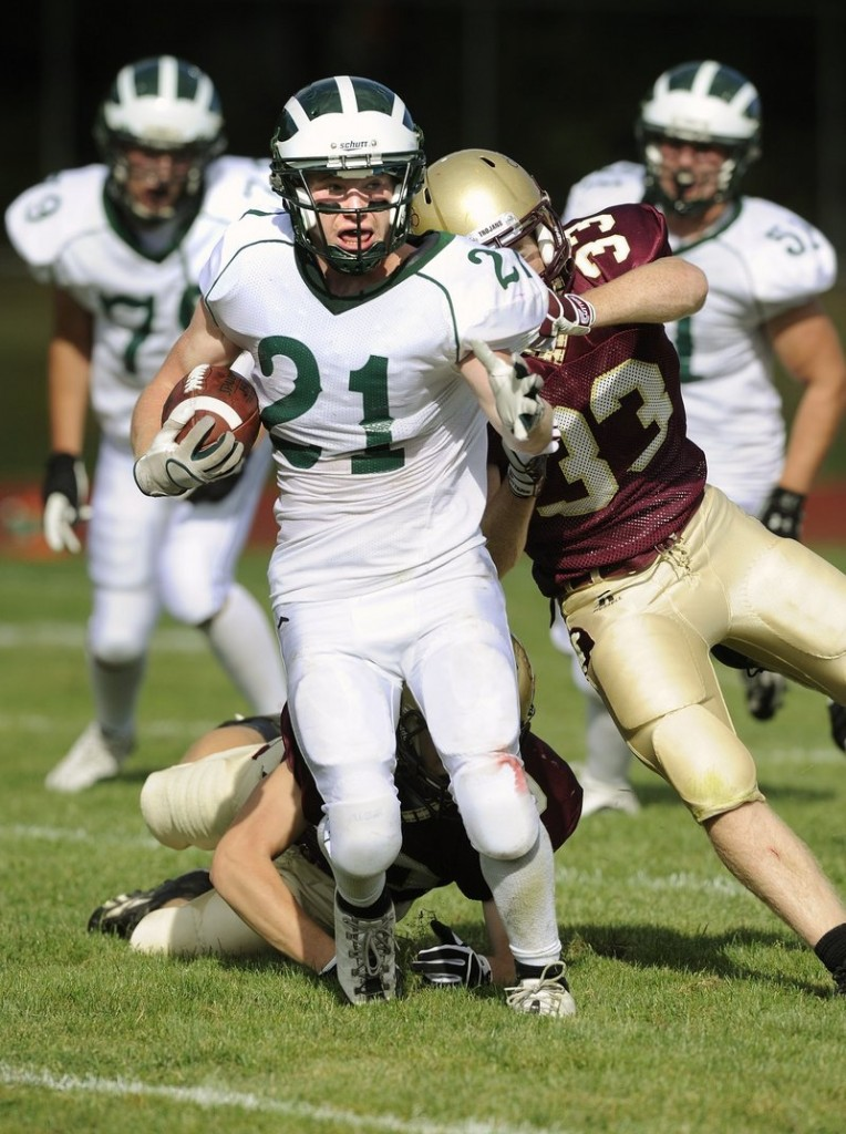 Nick Adkins will be looking to have an injury-free senior season for Bonny Eagle, which could compete for the Western Class A title.