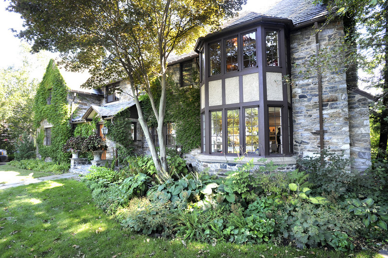 Built in 1920, the house is a two-story Tudor with a fieldstone facade. It's set back from the Western Prom, yet stands out because Portland doesn't have a lot of Tudors.