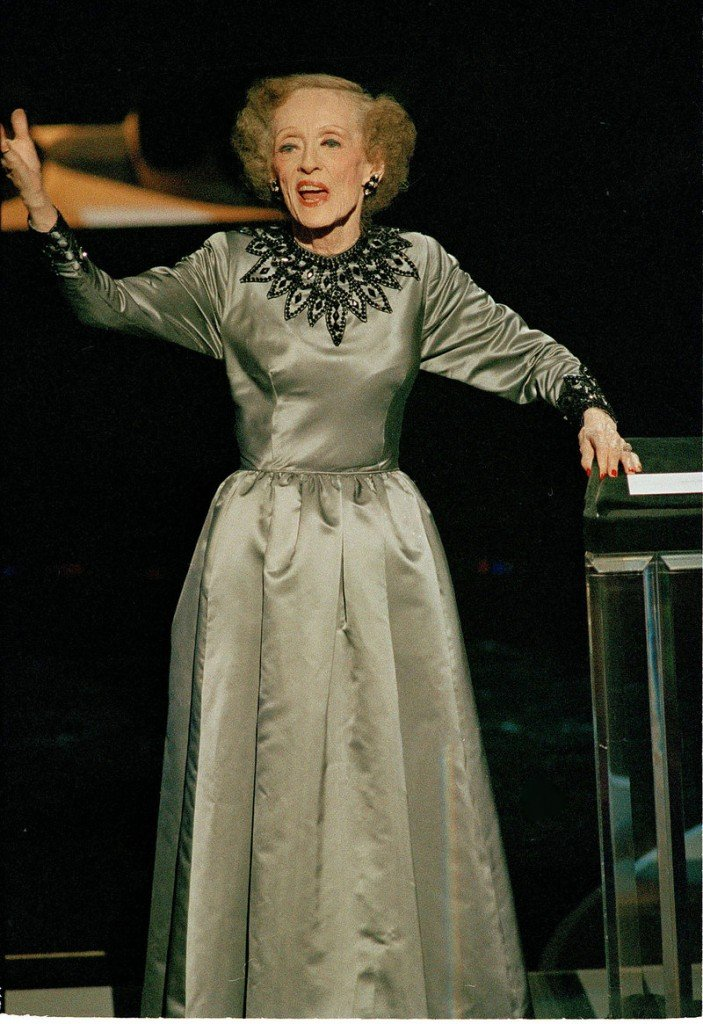 """Actress Bette Davis, shown at the Academy Awards in 1987, was right when she said, """"Old age ain't for sissies."""""""