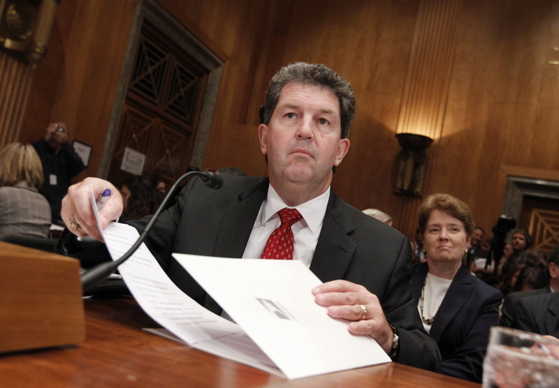 Postmaster General Patrick Donahoe, testifying Tuesday on Capitol Hill, says congressional action is needed to avert a$5.5 billion default on Sept. 30.