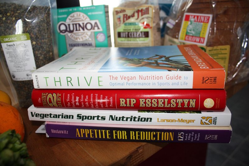 Among the books Bell, a vegan, has turned to as she trains are Thrive: The Vegan Nutrition Guide to Optimal Performance in Sports and Life by Brendan Brazier, The Engine 2 Diet by Rip Esselstyn, Vegetarian Sports Nutrition by D. Enette Larson-Meyer and Appetite for Reduction: 125 Fast and Filling Low-Fat Vegan Recipes by Isa Chandra Moskowitz.