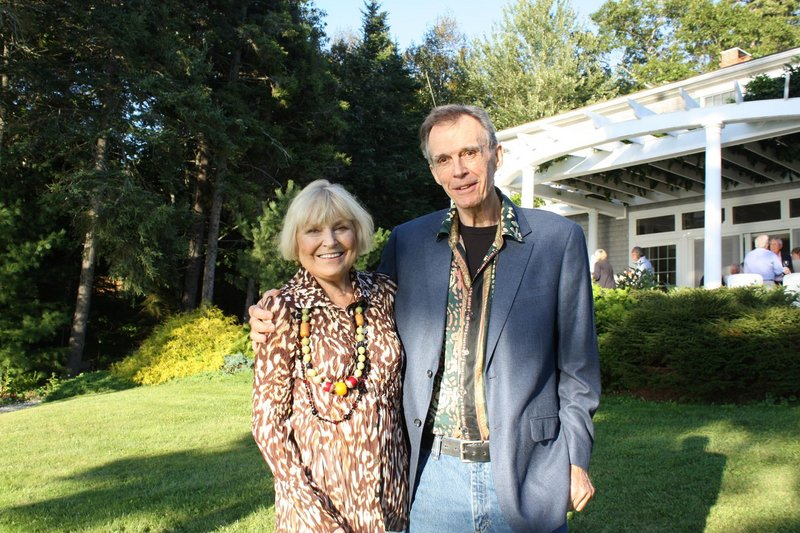 Kathleen and Mitch Billis, one of the artists whose work is displayed at the U.S. Embassy in Gambia.