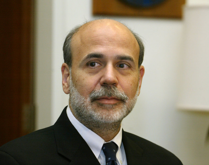 """Federal Reserve Chairman Ben Bernanke warned policymakers about the """"fragility"""" of the recovery."""