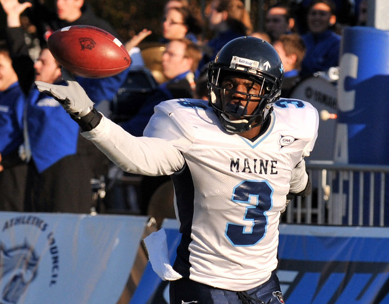 Trevor Coston returned five punts for 130 yards last week for UMaine against Bryant, including one for a 74-yard touchdown. He also had two interceptions.