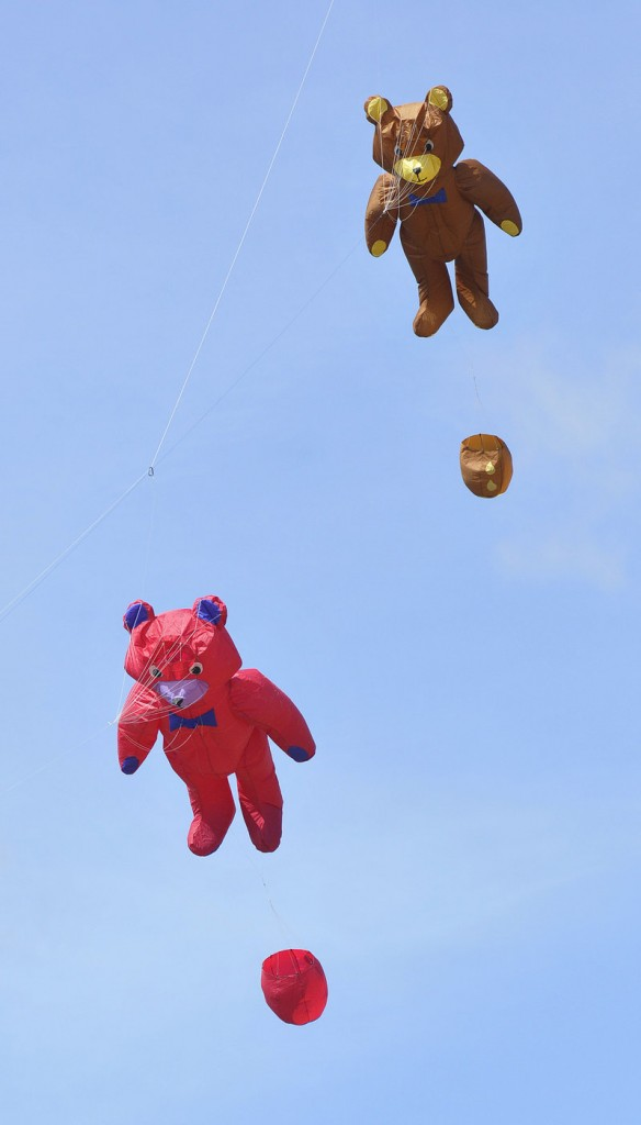 Flying bears join the party.