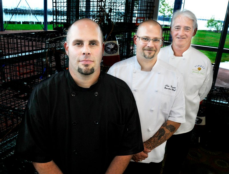 Ryan Campbell of Lake Parlin Lodge and Cabins, Kristian Burrin of The Seasons of Stonington Restaurant, and Thomas Reagan, a personal chef from Kennebunk, are Lobster Chef of the Year finalists.