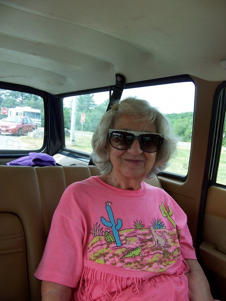Grace DiBiase on her way to Foxwoods in 2007. She died Wednesday at age 88.