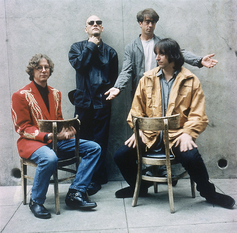 This 1994 photo shows the four members of the alternative rock band R.E.M.: Mike Mills, Michael Stipe, Bill Berry and Peter Buck. Berry left the band in 1997.