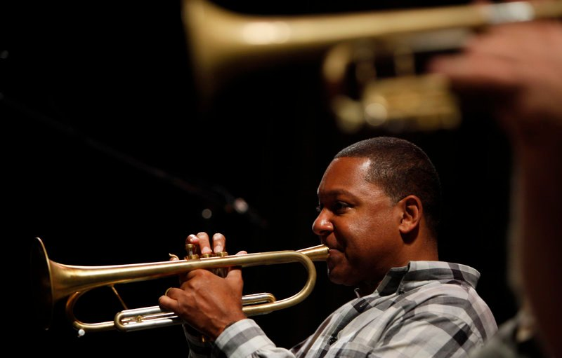Musician Wynton Marsalis performs in Havana, Cuba, in 2010. Marsalis says his recent collaboration with Eric Clapton stemmed from their love of the blues.