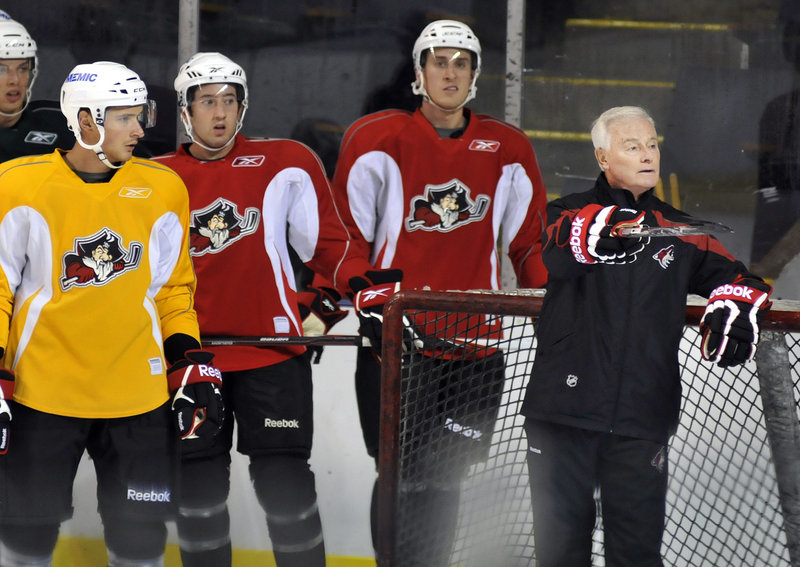 Dave King, a former Canadian Olympic and NHL coach now directing player development for the Coyotes, is in town this week to help evaluate players selected to play for the Portland Pirates this season.