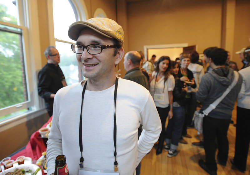 """Filmmaker David Redmon attends the opening reception for the Camden Film Festival at the Camden Opera House on Thursday. His company will screen a movie titled """"Downeast."""""""