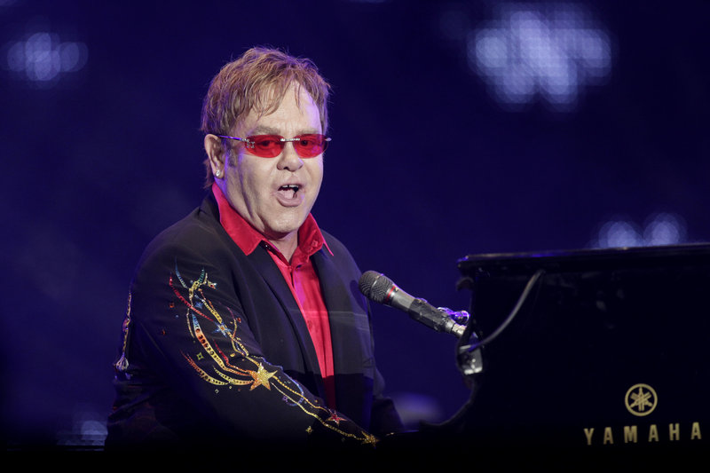 Elton John performed on Wednesday night the first of 16 shows scheduled through October at Caesars Palace in Las Vegas.