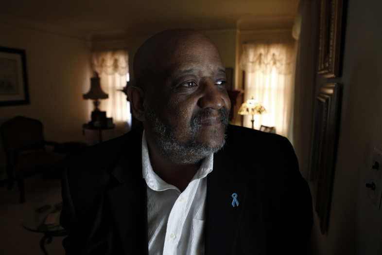 """Jerry Hardy, 57, seen at his home in Detroit on Tuesday, had nerve-sparing surgery for prostate cancer in 2000. """"The most important thing was to cure the cancer,"""" he said. """"Then we would deal with the side effects later."""""""